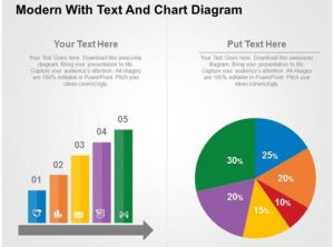 Modern With Text And Chart Diagram Flat Powerpoint Design