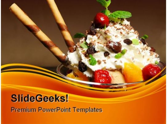Ice Cream Food PowerPoint Templates And PowerPoint Backgrounds 0311 Template Presentation