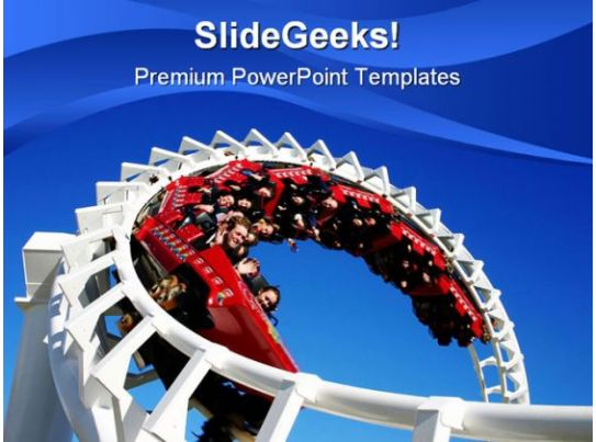 Roller Coaster People PowerPoint Template 0910 Templates PowerPoint Slides PPT Presentation