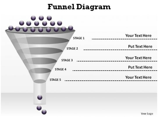 Sales And Marketing Funnel Diagram Style 1 Slides Diagrams Templates Powerpoint Info Graphics