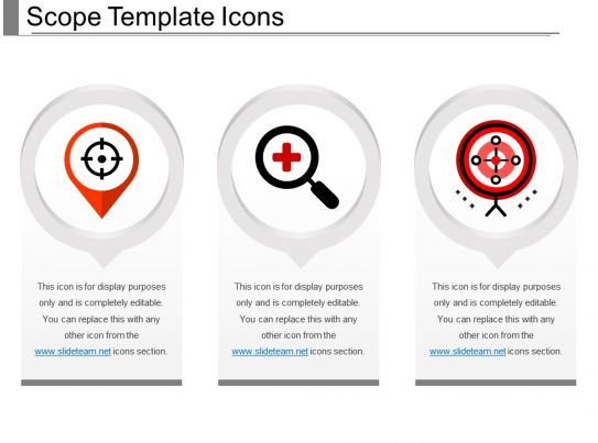 Scope Template Icons Powerpoint Slide Background PowerPoint Presentation Pictures PPT Slide
