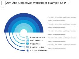 Aims And Objectives Powerpoint Templates