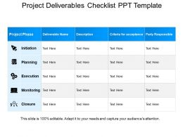Deliverables Template - FREE DOWNLOAD