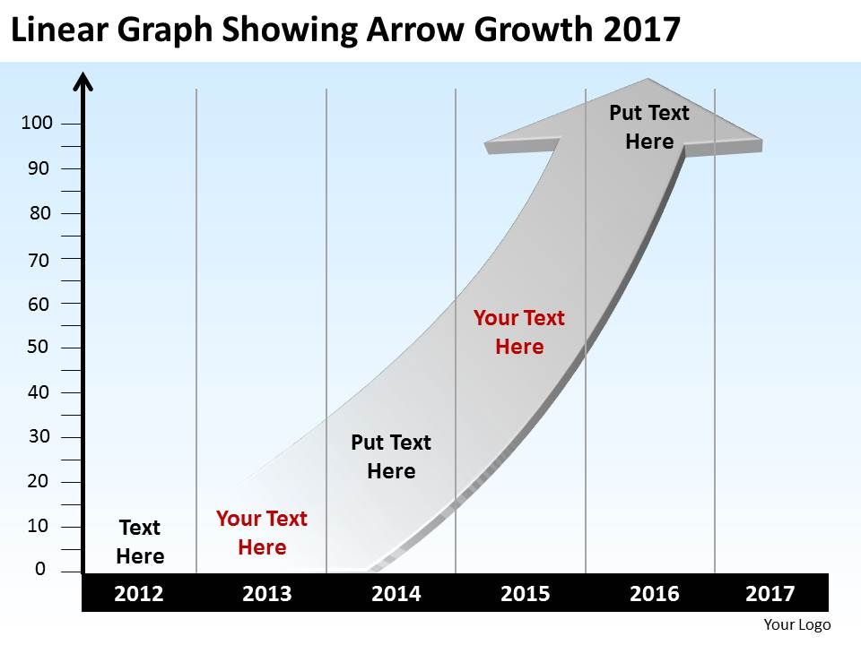 High Resolution Arrow Showing Growth