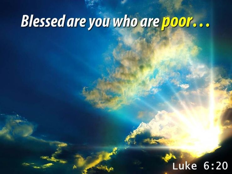 Luke 6 20 Blessed are you PowerPoint Church Sermon   Presentation Graphics    Presentation PowerPoint Example   Slide Templates