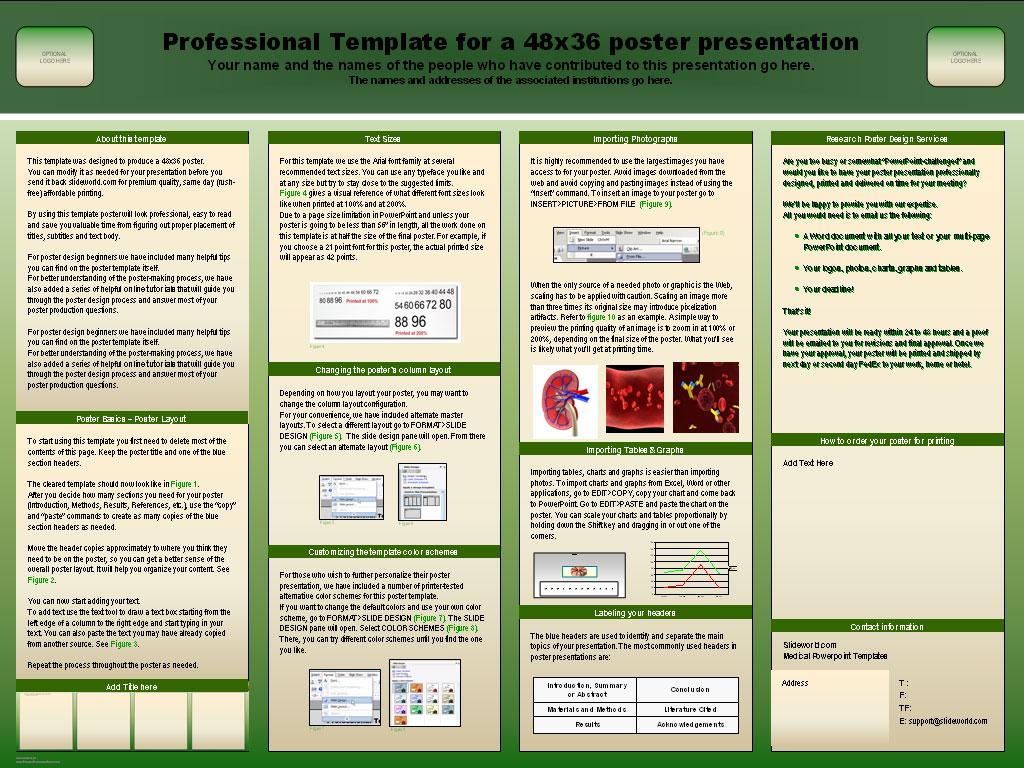 poster presentation templates wordscrawl com