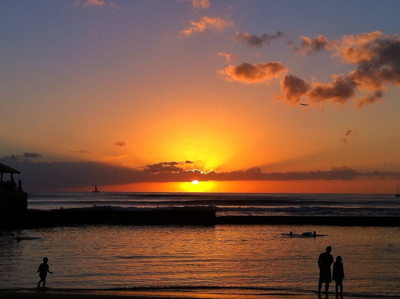 Waikiki sunsets are beautiful