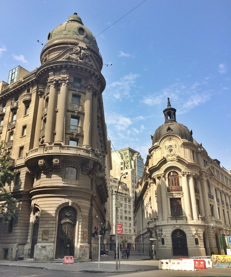 Santiago stock exchange buildings