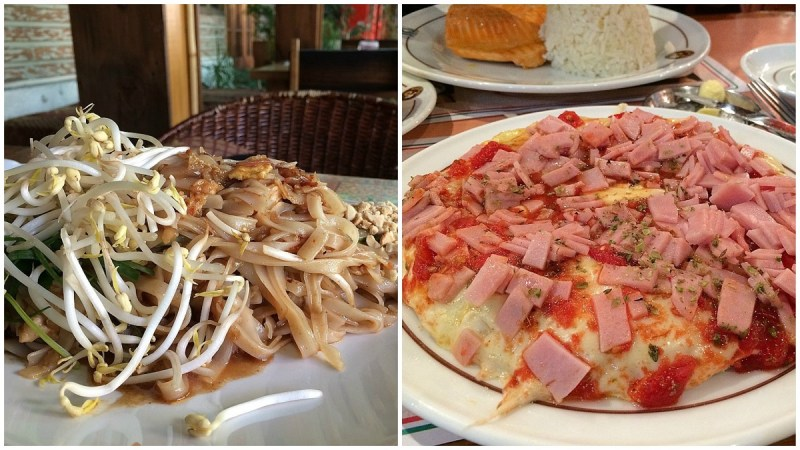 US$15 for a plate of Pad Thai? Ouch… that hurts.  US$12 for a truly atrocious single-serve pizza? That hurts even more.