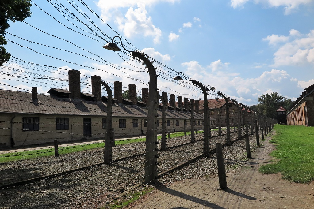 A visit to Auschwitz Part 2 Behind the barbed wire fence