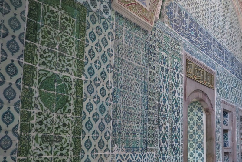 cool blues of the Ottoman tiles
