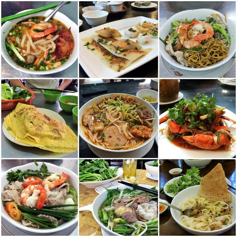 Saigon food collage