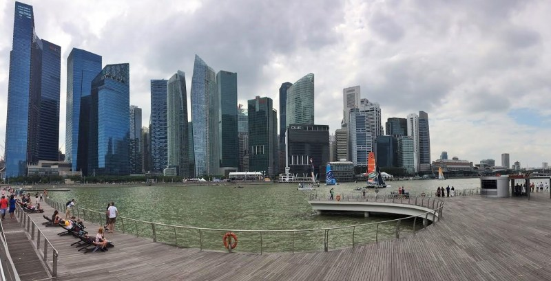 the famous Marina Bay