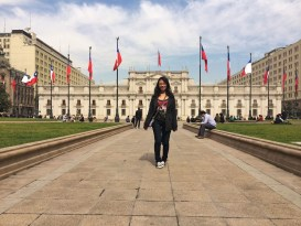 Week 3: Santiago - in front of La Moneda, Chile's presidential palace