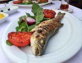 Week 25: Izmir - being by the coast means good seafood. D loved this simple grilled fish