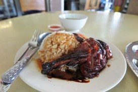 Week 45: Singapore - roast meat stalls can be found almost everywhere. This is the delicious roast duck and rice