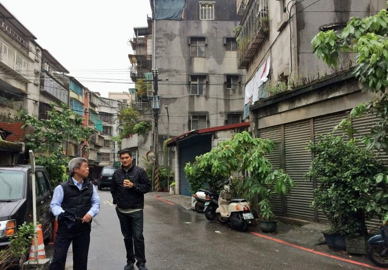 in front of old taipei house