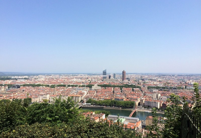 Lyon view from Fourviere