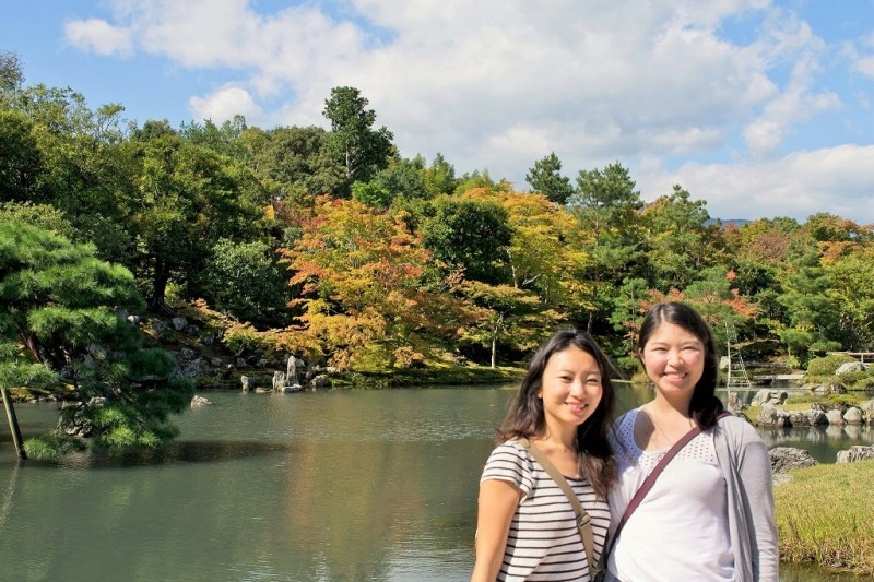 Adelina and I in Kyoto!