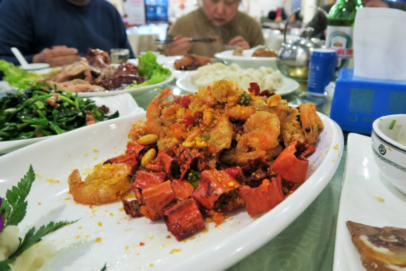 10 CNY spicy shrimp