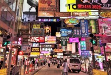 Week 12: Hong Kong - the chaotic Mongkok area at night