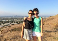 Week 25: Los Angeles - my sister and I after she got out of rehab!
