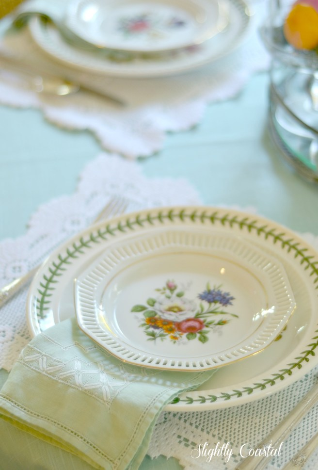 Spring Table Setting as Part of Spring Home Tour