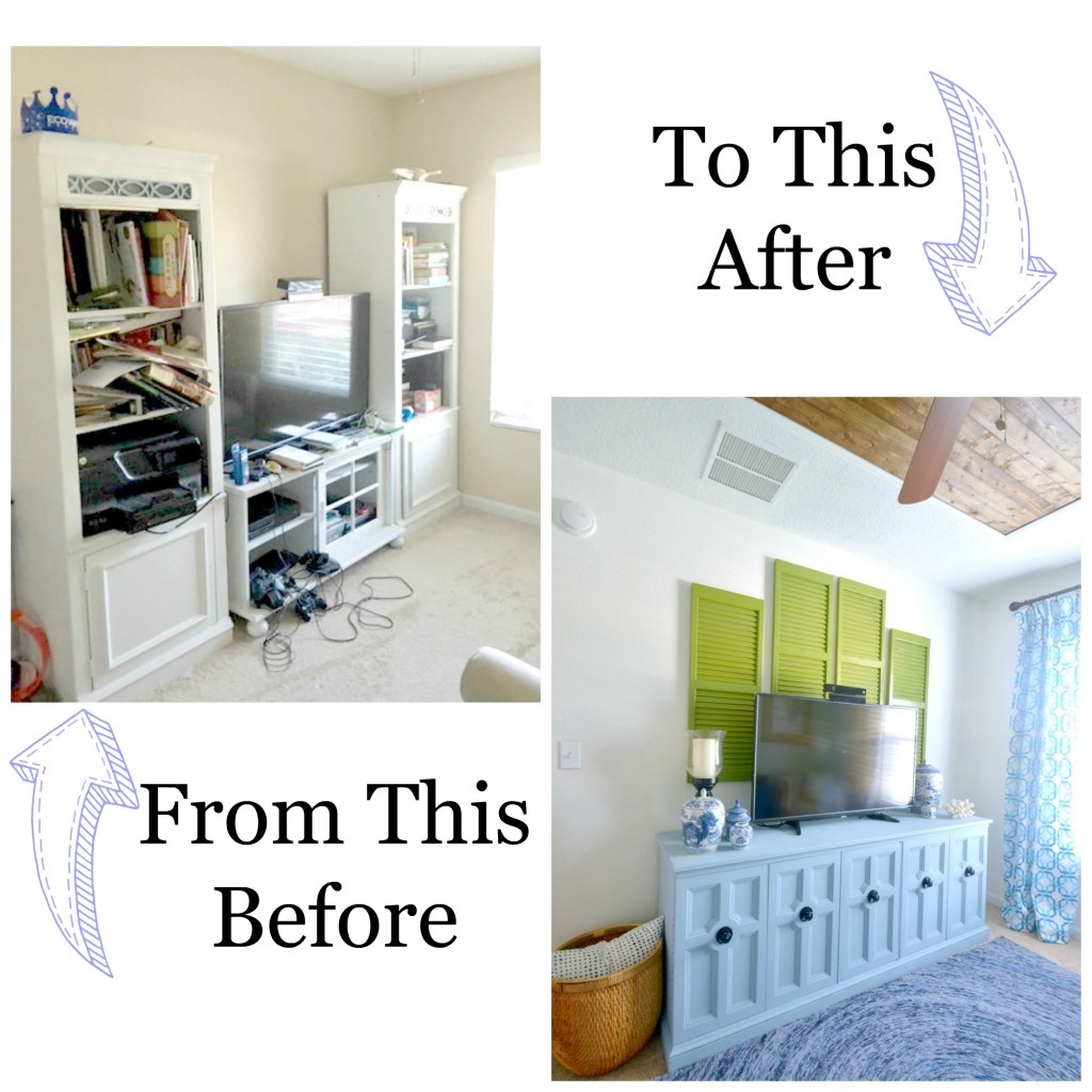 Before and After Tropical Palm Beach Decorating and Decor Inspiration