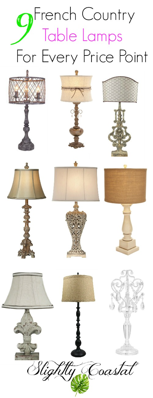 this collection of french country and farmhouse lamps is gorgeous there are so many great
