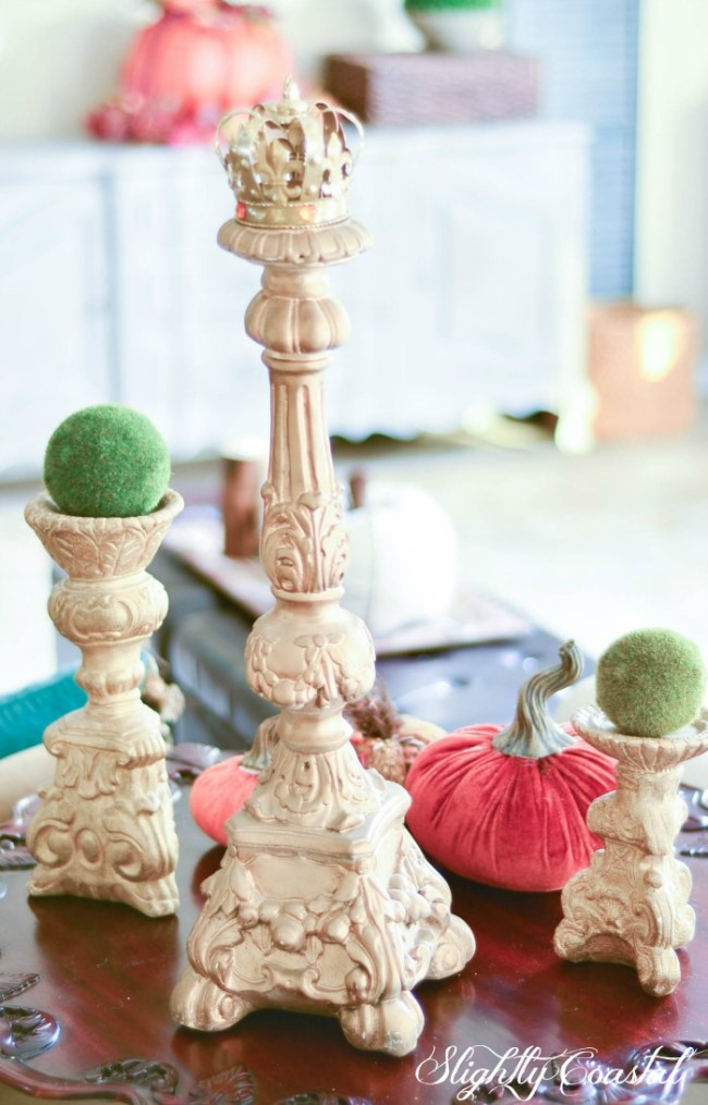 French Country Fall Blog Tour Candlesticks