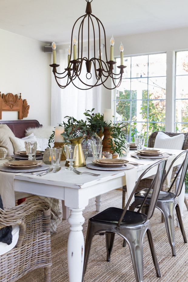 The Welcoming Thanksgiving Table & Farmhouse Tables Under $300 | Slightly Coastal