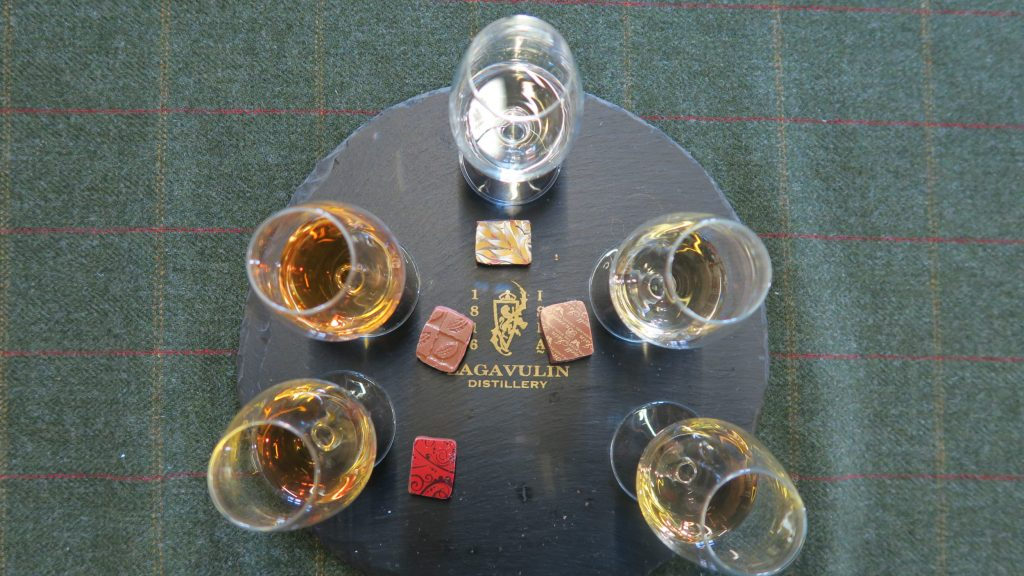 Lagavulin scotch and chocolate tasting.
