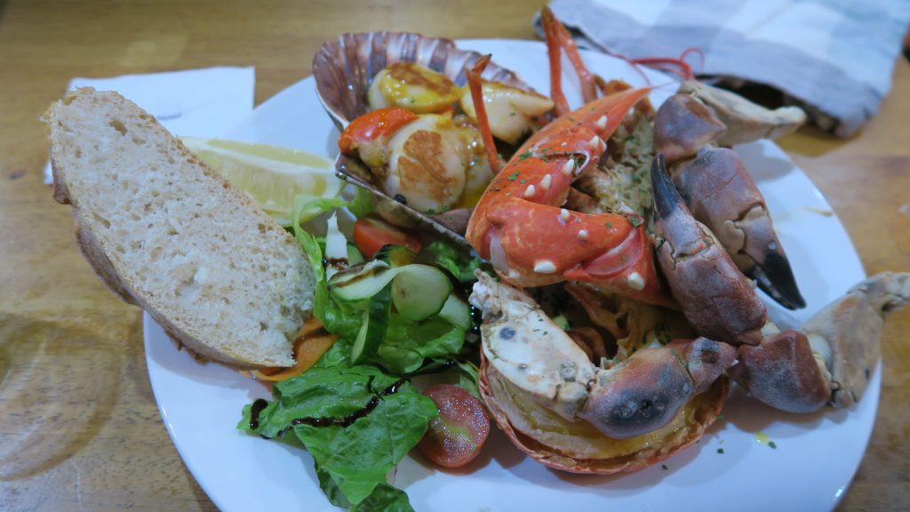 Seafood platter at the Lochindaal on Islay