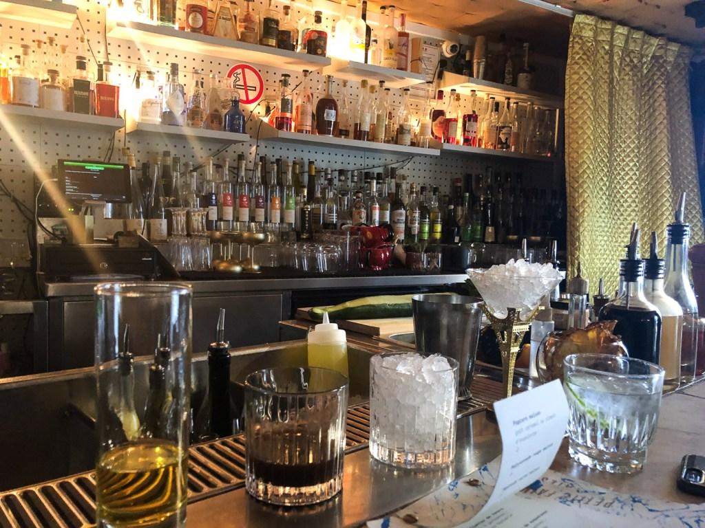Behind the bar at Le Syndicat