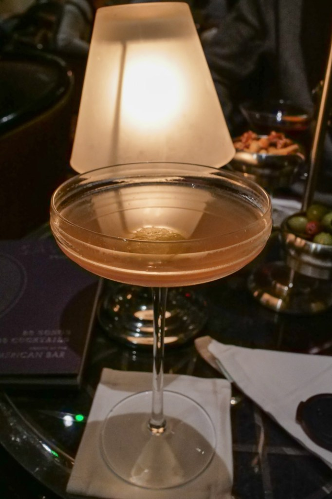 Burning Bright Cocktail at the American Bar at the Savoy London.