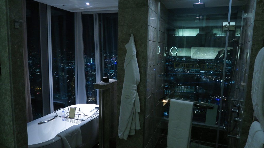 Bathroom at the Shangri-La at the Shard.