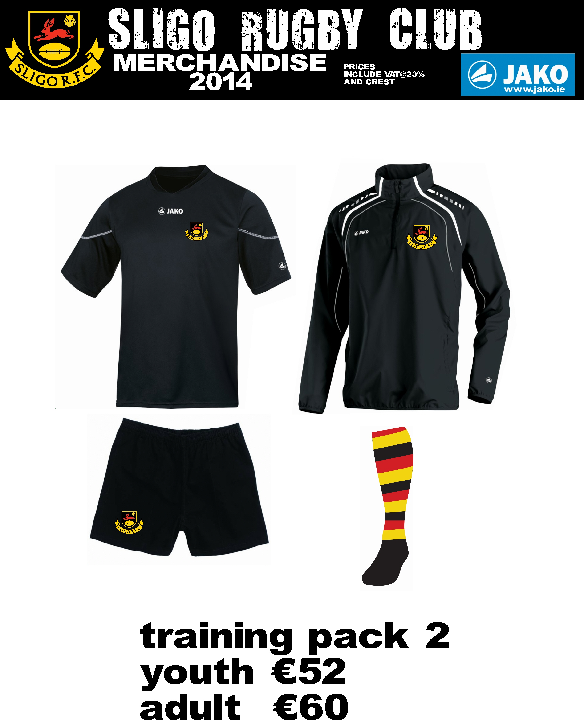 e5d683fd327df Shop or browse HERE now for Sligo RFC Kit online with Jako Sport at their  Sligo Rugby Club page on their online store.