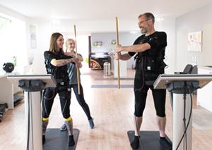 ems-training im slim-gym club für unternehmen
