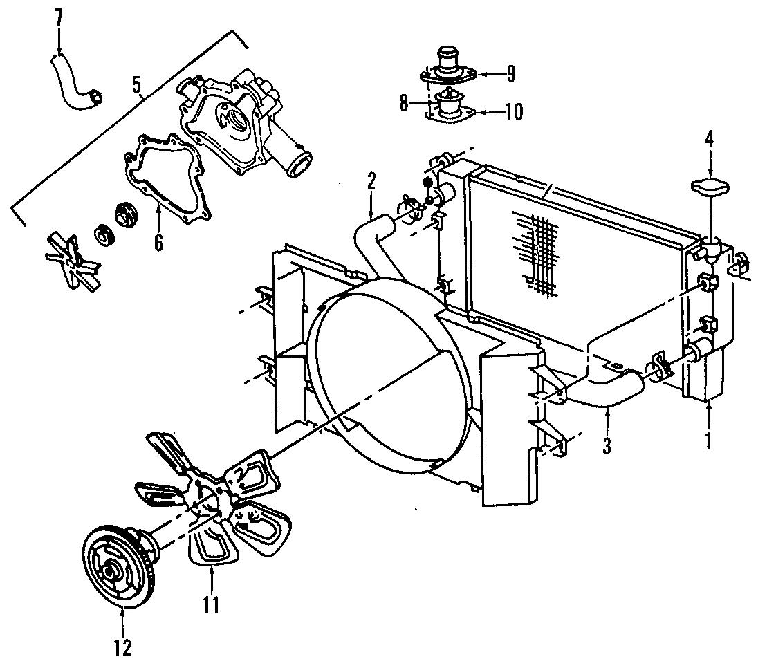 Dodge Ram Engine Coolant Thermostat Liter Models