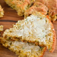 Gluten Free Cheddar Cheese Spring Onion Bread