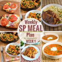 Slimming Eats SP Weekly Meal Plan - Week 1
