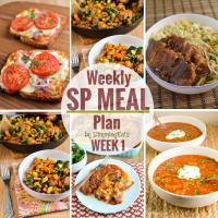 Slimming Eats SP Weekly Meal Plan - Week 1