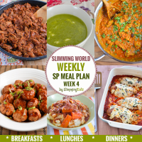 Slimming Eats SP Weekly Meal Plan - Week 4