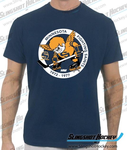 Minnesota-Fighting-Saints-navy-hockey-tshirt