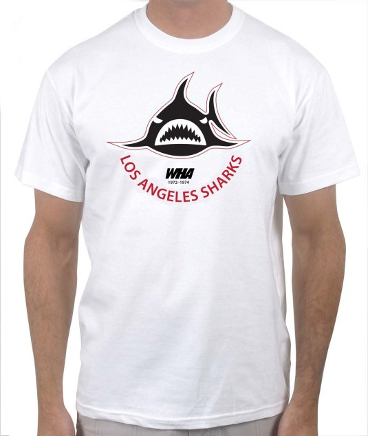 Los Angeles Sharks white hockey tshirt