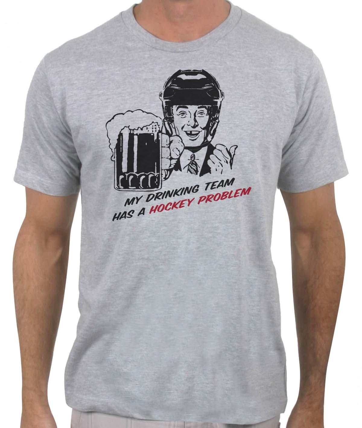 Buy the Drinking Team Hockey T-Shirt Online : Slingshot Hockey Online