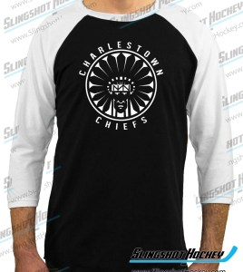 Charlestown-Chiefs-Warrior-slapshot-raglan-white-sleeve-black-body