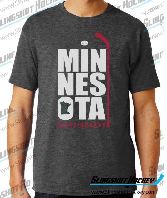 Minnesota-State-of-Hockey-charcoal-heather-grey-hockey-tshirt