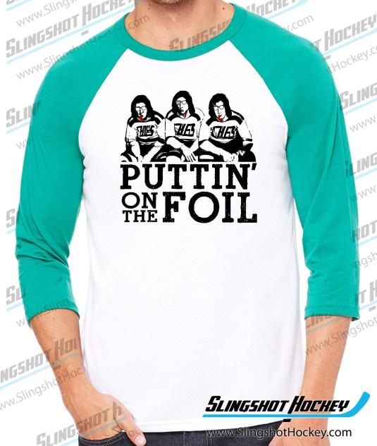 puttin-on-the-foil-hanson-brothers-slap-shot-raglan-kelly-green