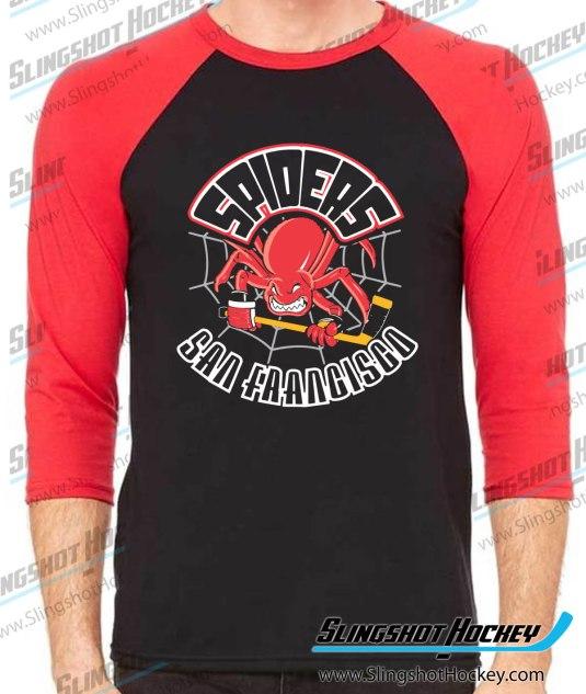 San-Francisco-Spiders-raglan-black-red-slingshot-hockey